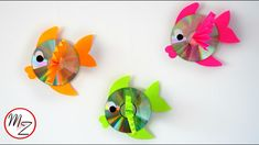 Wall hanging CD fish | Recycling ideas with CDs | Kids crafts ideas | Ma...