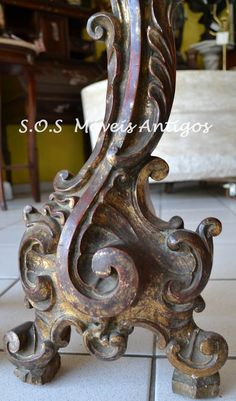 Par Tocheiro Século XVIII Cód.01 - SOS Móveis Antigos   SOS Móveis Antigos