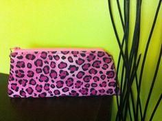 Pink Leopard Makeup Bag. $12.00, via Etsy.