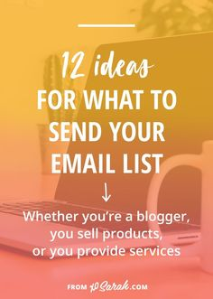 You know you need an email list to really grow your blog or online business...but what are you supposed to send?? Click to download a free list planning guide with 12 ideas for what to send your subscribers.