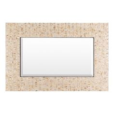 Surya Lakeview 35.8-In X 24-In Ivory Beveled Rectangle Framed Mosaic W