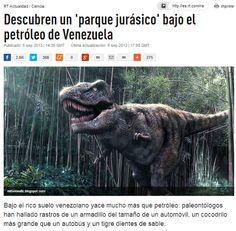 """Descubren un 'parque jurásico' bajo el petróleo de Venezuela – RT""""Tenemos unos 12.000 ejemplares catalogados, de distintas eras.En Venezuela tenemos esa riqueza que viene de cuando el océano Atlántico se origina, hace 200 millones de años, se da la deriva del río Orinoco hace unos ocho millones y s"""