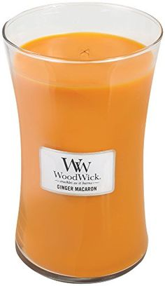 GINGER MACARON WoodWick 22oz Scented Jar Candle Burns 180 Hours -- Want additional info? Click on the image.