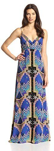Mara Hoffman Women's Pyramid Night Navy Silk Crossover Maxi Dress on shopstyle.com