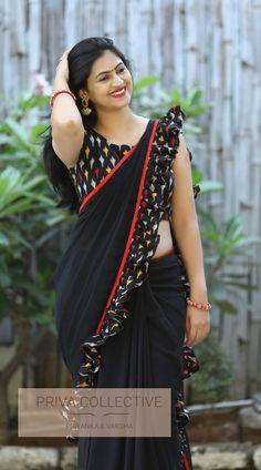 Beautiful Girl Indian, Beautiful Saree, Beautiful Indian Actress, Beautiful Actresses, Beautiful Women, Saree Blouse Patterns, Saree Blouse Designs, Saree Poses, Saree Trends