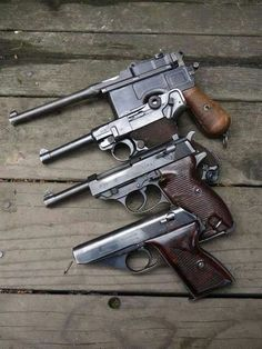 Pack of German pistols guns pistol pack german Weapons ammo