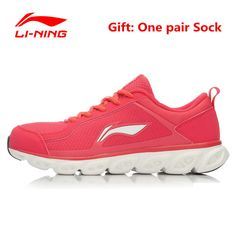 Li-Ning Lightweight Woman's Running Shoes Lining Cushioning Air Mesh Arch Techonology Women Gym Sneakers Breathable Sport Shoe