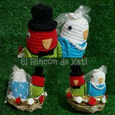 Novios agapornis crochet