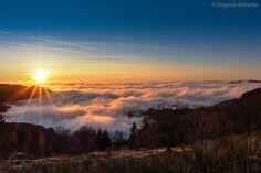 A sea of clouds.