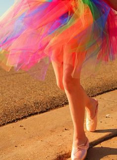 Rainbow electric fairy tulle.