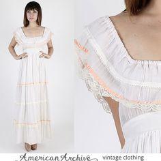 Gunne Sax Dress Prairie Dress Boho Dress Hippie by americanarchive