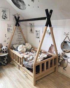 Diy Toddler Bed, Boy Toddler Bedroom, Toddler Rooms, Baby Boy Rooms, Baby Bedroom, Baby Room Decor, Kids Bedroom, Toddler Beds For Boys, Toddler House Bed