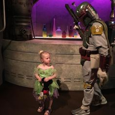 Boba Fett was giving Jordyn orders to be a good girl and to listen to her mommy and daddy. by seanscott1972