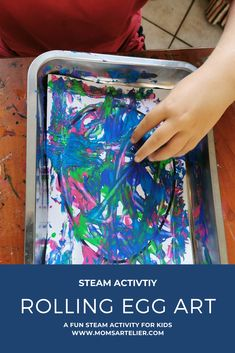 Create exciting abstract art pieces with this STEAM activity you can do with kids. Easter Jesus Crafts, Easter Crafts For Toddlers, Easter Activities, Crafts For Kids To Make, Easter Crafts For Kids, Toddler Crafts, Steam Activities, Activities For Kids, Egg Art