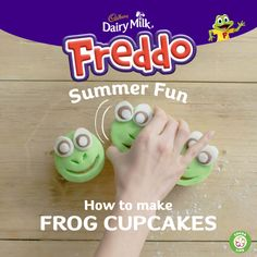 Get creative with Freddo this summer. Learn how to make frog cupcakes with your kids. Remember, adult supervision is required at all times. Click the pin to learn more and to discover other fun things to do with your kids this summer.