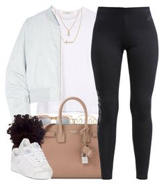 """Let's Get It On"" by oh-aurora ❤ liked on Polyvore featuring Forever 21, Shay, ADAM, Crislu, Won Hundred, Le Specs, Yves Saint Laurent, NIKE and adidas"