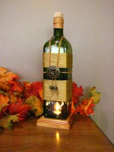 Ideas for recycling wine bottles.