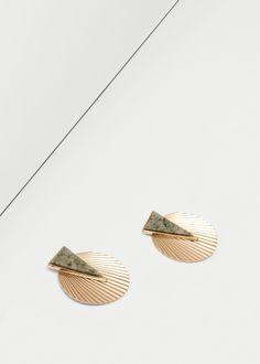 Orecchini pietre semipreziose - Bigiotteria da Donna | MANGO Italia