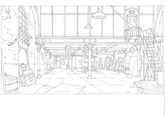 Living Lines Library: L'Illusionniste / The Illusionist - Background Layouts Background Drawing, Cartoon Background, Animation Background, Environment Sketch, Environment Design, Bg Design, The Illusionist, Environmental Art, Layout Inspiration