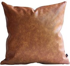 Amazing offer on Kdays Thick Faux Leather Euro Sham Throw Pillow Cover Cognac Leather Decorative Throw Pillow Case Farmhouse Decor Sofa Couch Cushion Covers Modern Minimalist Vegan Pillow Cover Inches online - Topusashoppingsites Couch Cushion Covers, Couch Cushions, 20x20 Pillow Covers, Throw Pillow Cases, Lumbar Pillow, Leather Throw Pillows, Leather Pillow, Decorative Throw Pillows, Brown Couch Throw Pillows