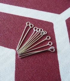 Approx 450 Silver Plated Head Pins 14mm Iron Jewellery Craft Findings DIY