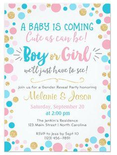 20 Adorable Gender Reveal Party Invitations Pinterest Gender