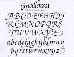 Italic Alphabet Calligraphy. practice with a calligraphy