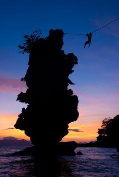SUNSET HIGHLINE INTHAILAND Photography - Scott Roger Slackliner - Hayley Ashburn