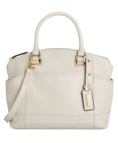 Tignanello Pretty Pockets Smooth Leather Convertible Satchel Handbags Accessories Macy S