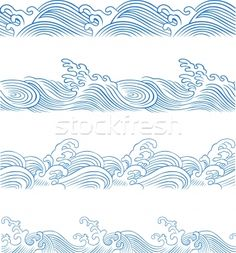 desenhos de ondas oriental - Pesquisa Google