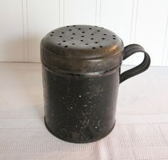 Antique Large Tin Muffiner or Sugar Shaker  ~  SOLD