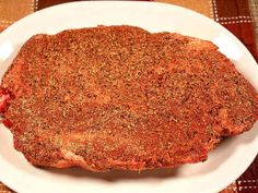 This Chuck Roast Was Salted, Then Seasoned With a Tasty Dry Rub