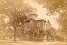 Kent County Courthouse, Dover, Delaware ca. 1880s-1890s.  From the Janson Collection.  Karl J. Janson was a Swedish immigrant who came to this country in 1880.  He was a watchmaker and jeweler for a store in Dover, DE.  9015-005-001 #5.  www.archives.delaware.gov
