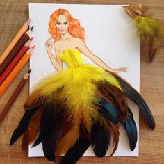 Real Life Objects Used as Playful Ingredients for Fabulous Fashion Illustrations - My Modern Met