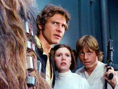 Chewbacca, Han,  Leia and Luke