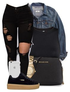 """"""" Gave you some time to prove that I can trust you again """" by mindlesspolyvore ❤ liked on Polyvore featuring Madewell, H&M, MICHAEL Michael Kors and Michael Kors"""
