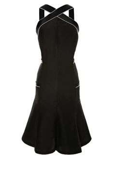 Chanel Black Dress With Pearl Trim by Vintage Chanel for Preorder on Moda Operandi
