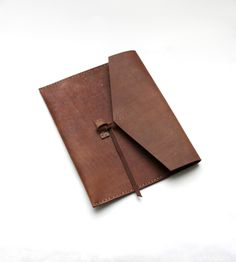 Brown Leather iPad Folio
