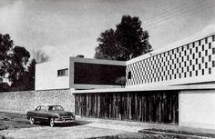 Casa Habitación,1955 Col. San Ángel, México D.F. Arq. Felipe Salido Torres