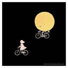 #Bicycle #Moon