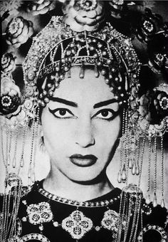 theniftyfifties:  Maria Callas, Turandot, 1950. Photo by Federico Patellani.