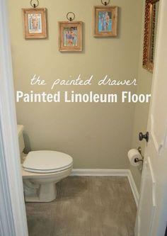 How To Paint Vinyl Or Linoleum Sheet Flooring MH IDEAS Pinterest - Paint vinyl floor look like stone