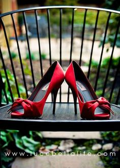 LOVE these Red Wedding Shoes! I hope I can find them ore some similar somewhere!