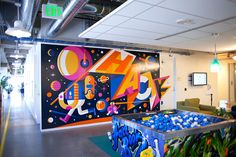 Invisible Creature Speaks » Blog Archive » Spacehack Mural for Facebook