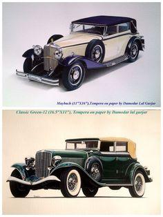 Vintage car works in Watercolor