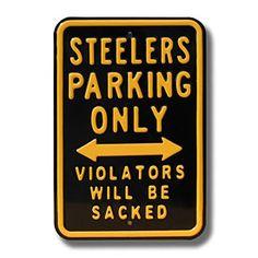 Denver Broncos Sacked NFL Parking Sign - Love this! Denver Broncos, Go Broncos, Broncos Fans, Pittsburgh Steelers, Broncos Memes, Broncos Gear, Broncos Logo, Patriots Fans, Patriots Football