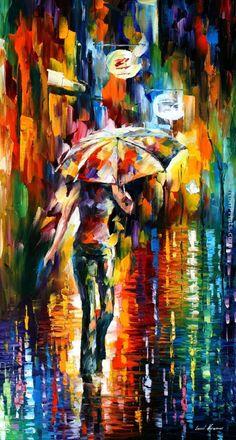 Leonid Afremov - Umbrella Painting