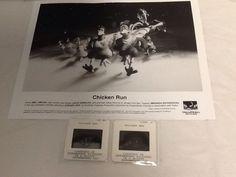 "Chicken Run Movie Photo 8x10"" Color Slides 35mm Press Kit Dreamworks 1999"