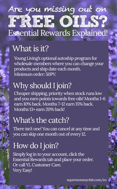 The Young Living essential rewards programme explained!