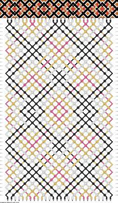 Muster # 75184, Streicher: 28 Zeilen: 46 Farben: 4